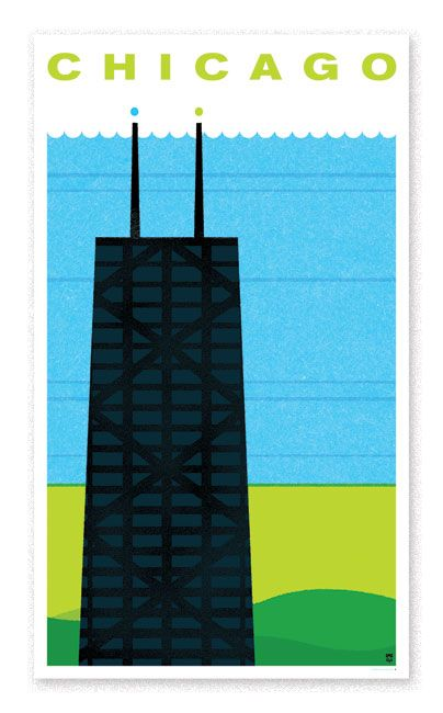 Chicago Travel Poster - The Heads of State