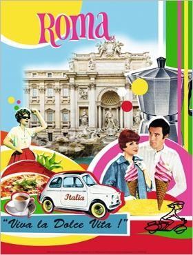 Roma Italy Travel Poster