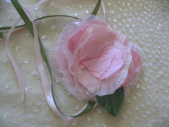 Handmade flower silk, by me
