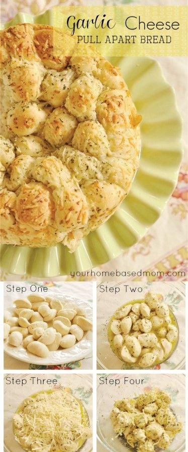 Garlic Cheese Pull Apart #Bread. Easy & delicious!
