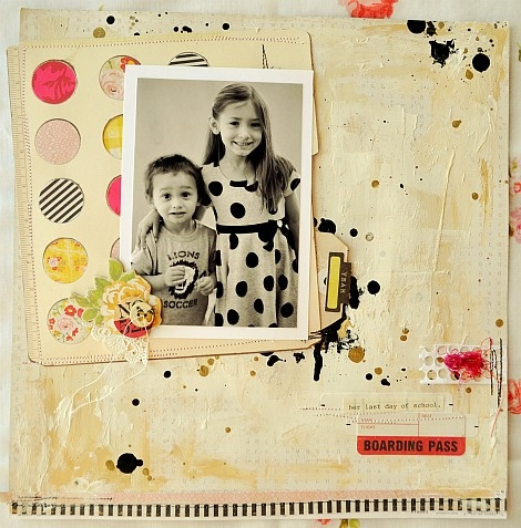 Love it! #scrapbook #layout #circles #bubbles #black #white #photo