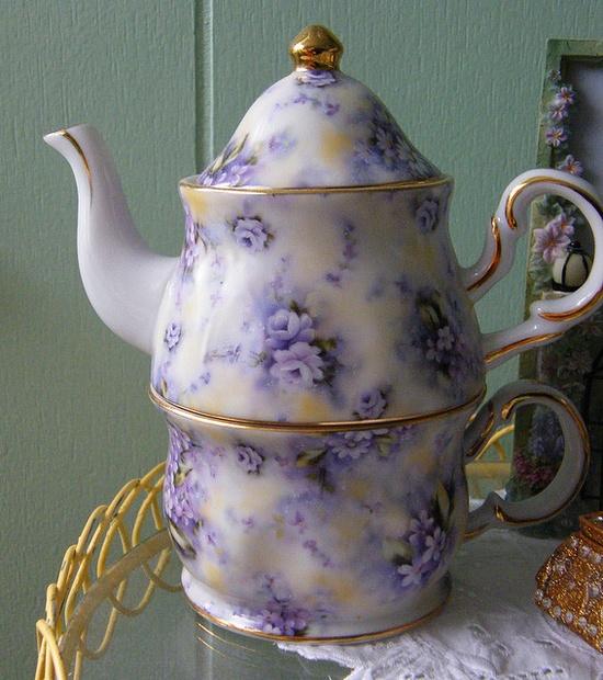 Stackable Tea Pot & Cup