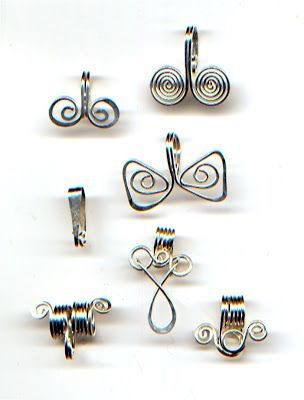 Bails - nice offering.  #wire #jewelry #tutorial #bails