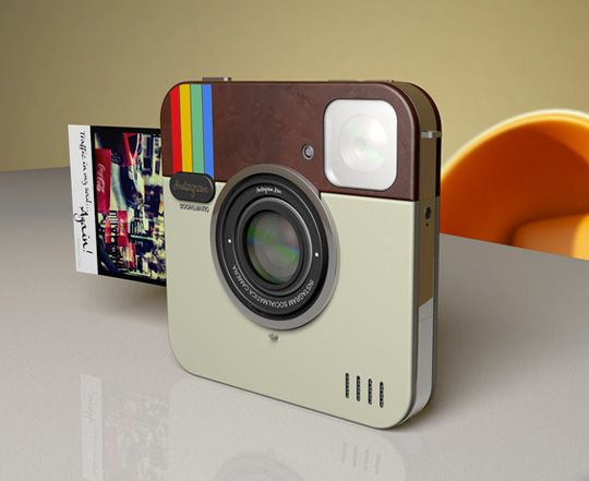 instagram camera that prints real photos like a polaroid. i want this!