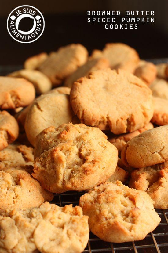 Brown Butter Spiced Pumpkin Cookies on MyRecipeMagic.com #cookies #pumpkin #spiced #brown #butter
