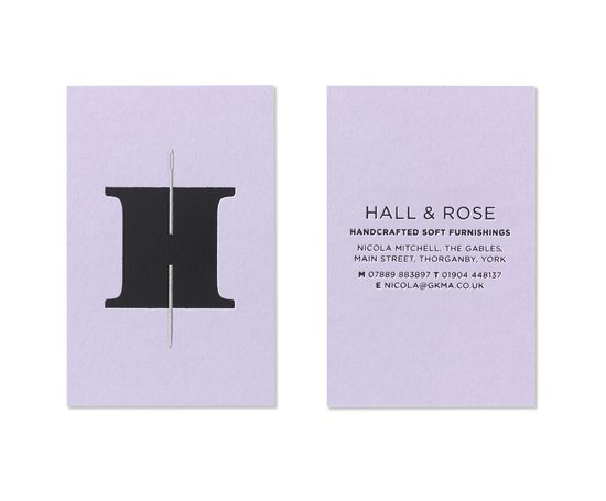 Hall & Rose business cards.