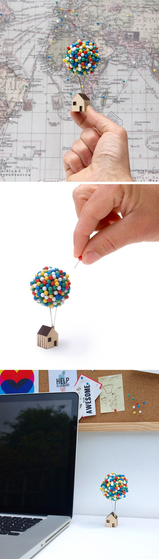 Balloon Pin House by