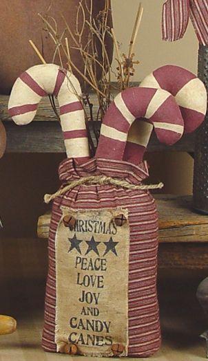 Christmas Candy Cane Sack