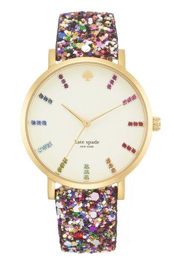 kate spade new york 'metro grand' boxed watch set