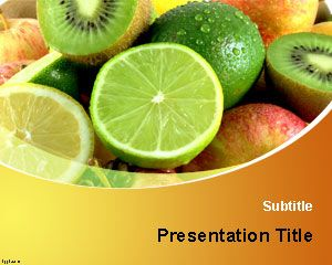 Free Food & Nutrition Powerpoint Templates - Vitamins PowerPoint Template fresh #fruits
