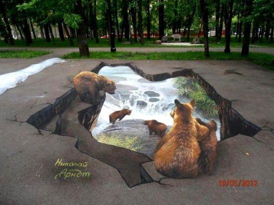 Bears 3D Street Art