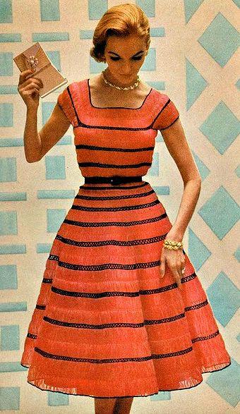 Orange Cocktaildress 1950s