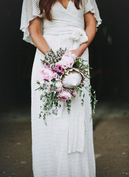 gorgeous protea bouquet