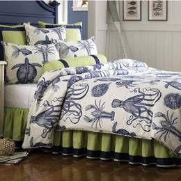 Nautical Bedding, Nautical Comforters, Comforter Sets, Nautical Decor, Bedspreads, Quilts, Pillows, Sheets, Beach, Coastal, Nautical Home Decor, King, Queen, Bedding: The Home Decorating Company