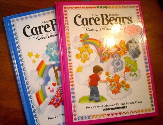 Vintage 1980's Care Bears Books. $7.00, via Etsy.