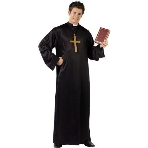 Black Priest Robe Men's Costume Adult Halloween « Clothing Impulse