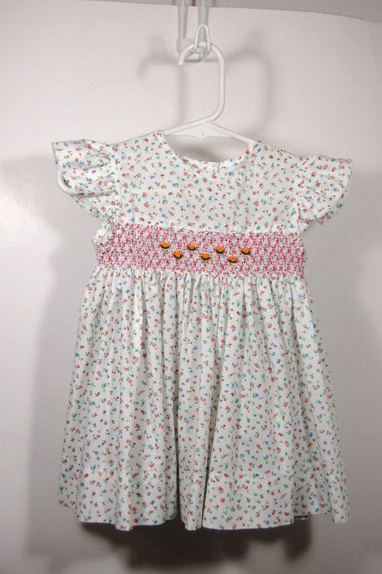 Vintage Smocking Dress