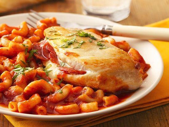 Cheesy Pepperoni-Stuffed Chicken.
