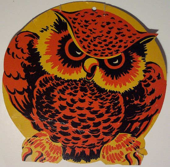 Vintage Halloween Diecut Owl by riptheskull, via Flickr