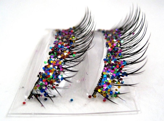 SALE Natural Party Mix Glitter Faux Eyelashes