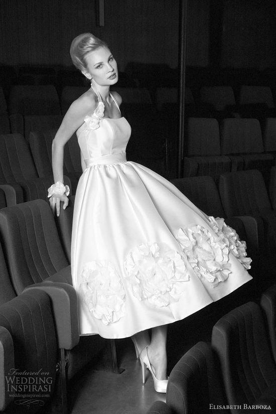 1950's inspired wedding dress