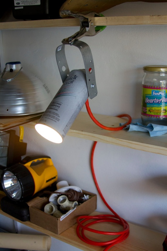 Spray Paint Clamp Lamp by WeaselWrks on Etsy, $25.00