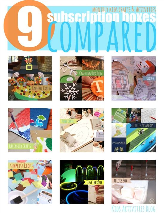I LOVE all this information in one place --->10 Subscription Craft Boxes for Kids Compared