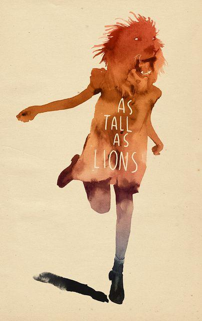 as tall as lions watercolour