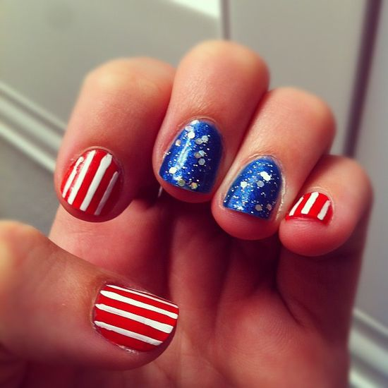 de33ieallen's festive tips. Show us your 4th of July-inspired nails! Tag your pic #SephoraNailspotting to be featured on our social sites.