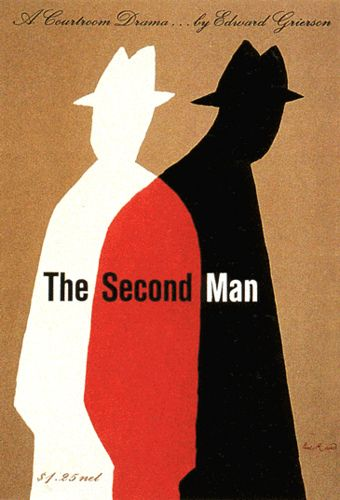 The Second Man book cover by Paul Rand: 1956