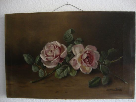 Antique Rose Oil Painting