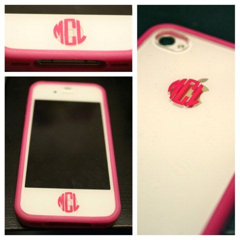 iPhone button Monogram