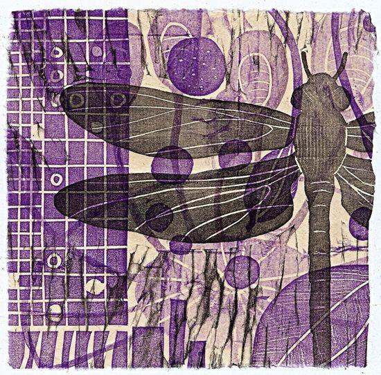 dragonfly block print ~