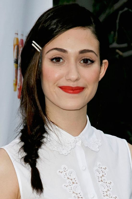 17 Celebrity-Approved Hairstyles for the First Day of School: Emmy Rossum's Fantastic Fishtail