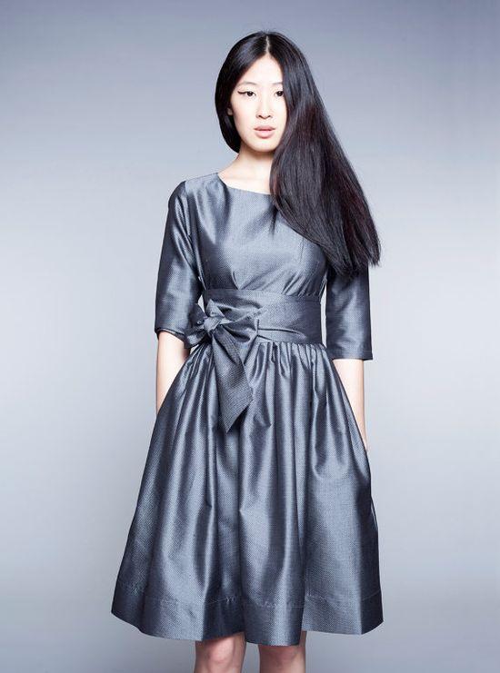 Steel Grey Woolen Dress by Mrs Pomeranz par mrspomeranz sur Etsy