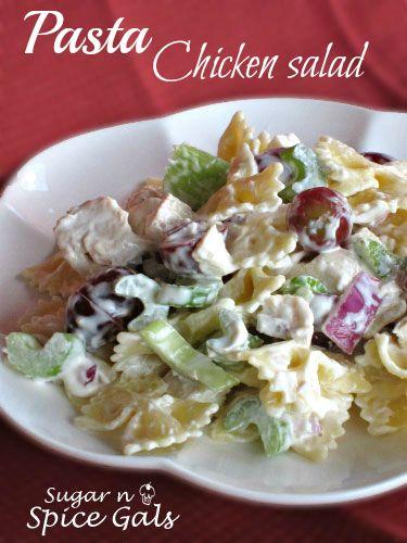 Yummy Pasta Chicken Salad on MyRecipeMagic.com is so easy and delicious! #salad #chicken #pasta
