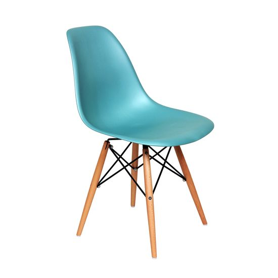 Mid-Century Slope Chair - Blue
