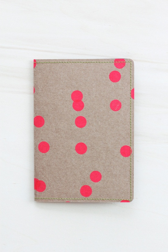 Travel Wallet - Neon Dots on Kraft by fellowfellow