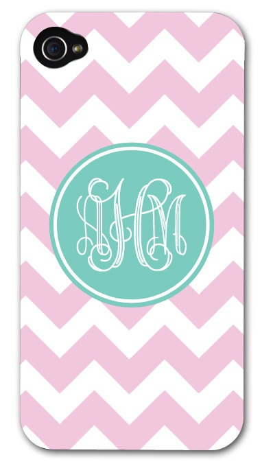 Monogrammed Chevron iPhone case. Totally buying this!
