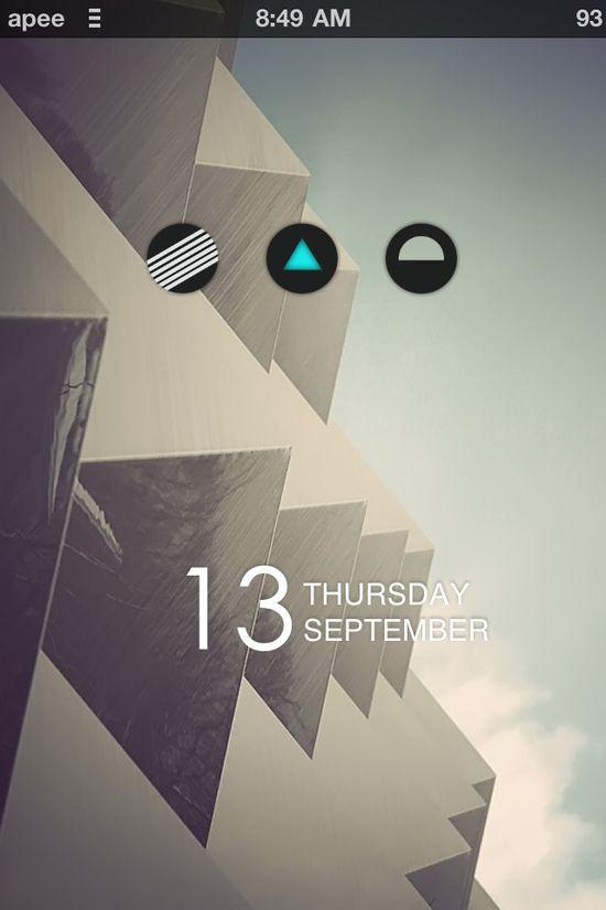 UI Design - Wallpaper + Current Date