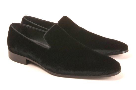 Giuseppe Zanotti's first men's collection - velvet loafers