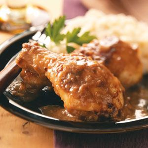 Savory Onion Chicken Quick Dinner Recipe from Taste of Home