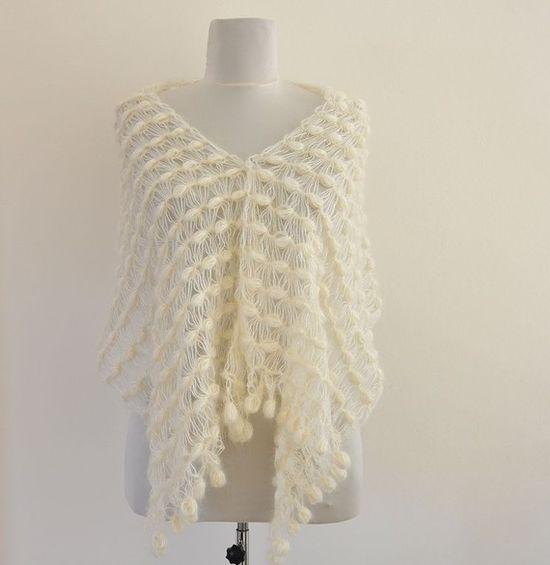 crochet mohair wedding shawl