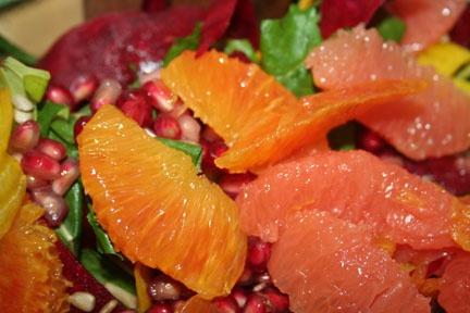Raw Beet Citrus Salad #Food Blog, #Raw