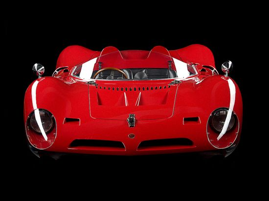 1966 Bizzarrini P538 Barchetta red car
