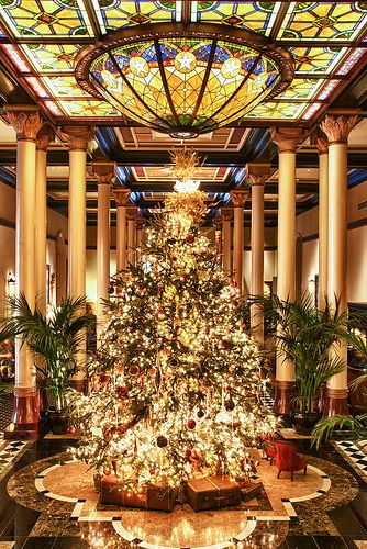 The Driskill Christmas Tree, Austin, Texas