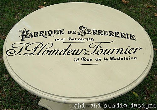 transfer image to furniture