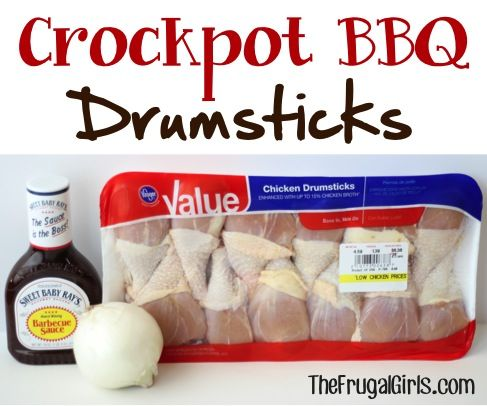 Easy Crockpot BBQ Drumsticks! ~ from TheFrugalGirls.com ~ these are perfect for a weeknight dinner, Sunday lunch, or even Game Day! #chicken #crockpot #recipes