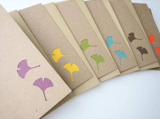 Ginkgo Delight Note Card Set by newnanc on Etsy $11.25 #etsy #handmade