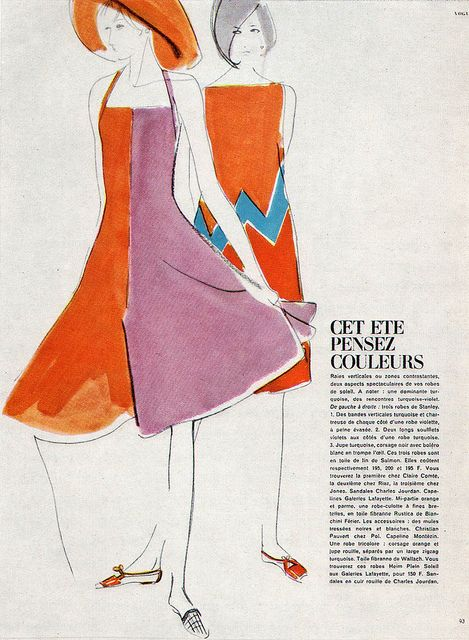 Vintage fashion illustration